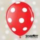 Воздушный шар (12'' 30 cм) Горох крупный (белый), Пастель