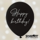 Воздушный шар (12'' 30 cм) Happy Birthday classic, белый