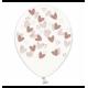 Воздушный шарик (B105, 30 cм), розовое золото кривульки