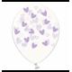 Воздушный шарик (B105, 30 cм), лавандовые кривульки сердечки на