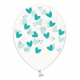 Воздушный шарик (B105, 30 cм), мятные кривульки сердечки на