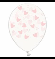 Воздушный шарик (B105, 30 cм), зефирки кривульки сердечки на