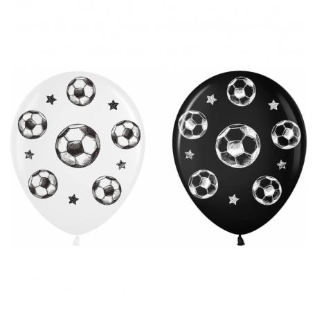 Воздушный шарик (B105, 30 cм), футбольный мяч черно-белые 25