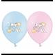 Воздушный шарик (B105, 30 cм), пустышки микс (голубые и