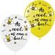 Воздушный шарик (B105, 30 cм) Крутые пчёлки микс 10/25/50 шт.