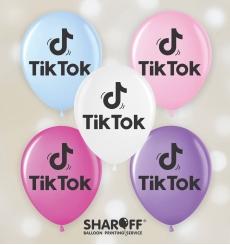 """Воздушный шарик (12"""", 30 cм) Tik-tok 50 шт. 2 ст. Арт. 00103"""