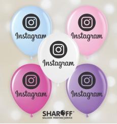 """Воздушный шарик (12"""", 30 cм) Instagram 50 шт. 2 ст. Арт. 00102"""