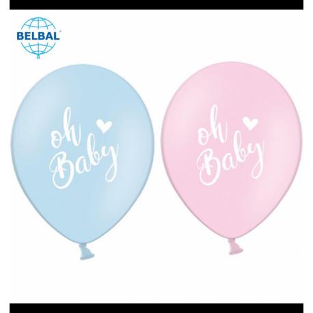 Воздушный шарик (B105, 30 cм) Oh baby микс 10/25/50 шт. арт.