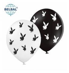 Воздушный шарик (B105, 30 cм), playboy микс 25 шт. 5 ст. арт.