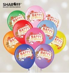 "Воздушный шарик (12"", 30 cм) Happy Birthday 25 шт. 1 ст. 4"