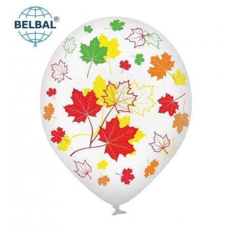 Воздушный шарик (B105, 30 cм), Осенние листья25 шт. 5 ст. арт.
