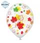 Воздушный шарик (B105,  30 cм), Осенние листья . 5 ст. арт. 258-0180