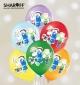 """Воздушный шарик (12"""", 30 cм)  Роботы Minekraft,  25 шт. 1 ст.  5 цветов  Арт. 0311"""
