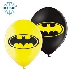 Воздушный шарик (В105, 30 cм) Шарик  с рисунком герои , микс желтый, черный  25 шт. арт. 258-0181
