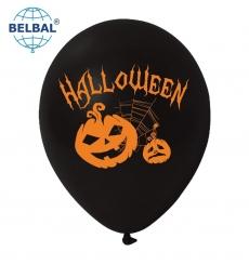Воздушный Шарик (B105, 30 см) Halloween (Оранжевые, Тыква) 50 шт., арт. 258-0185