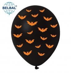 Воздушный Шарик (B105, 30 см) Halloween (Летучие Мыши) 50 шт., арт. 258-0186
