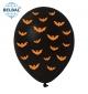 Воздушный Шарик (B105, 30 см) Halloween (Летучие Мыши) 25 шт., арт. 258-0186