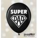 "Воздушный шарик (12"", 30 cм) Тато завжди правий (микс) 50 шт. 2"