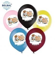 Воздушный шар (B105, 30 см) Halloween (привидение с тыквой ассорти 25 шт. арт. 258-0190